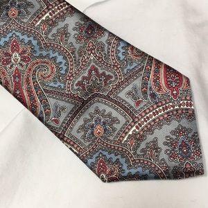 """Oscar de la Renta Couture Silk Paisley Tie. 57"""""""